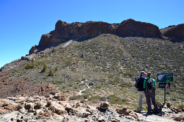 The route to Alto de Guajara, Teide National Park