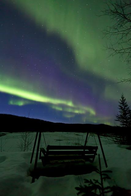 042017 - The neighbors swinging bench