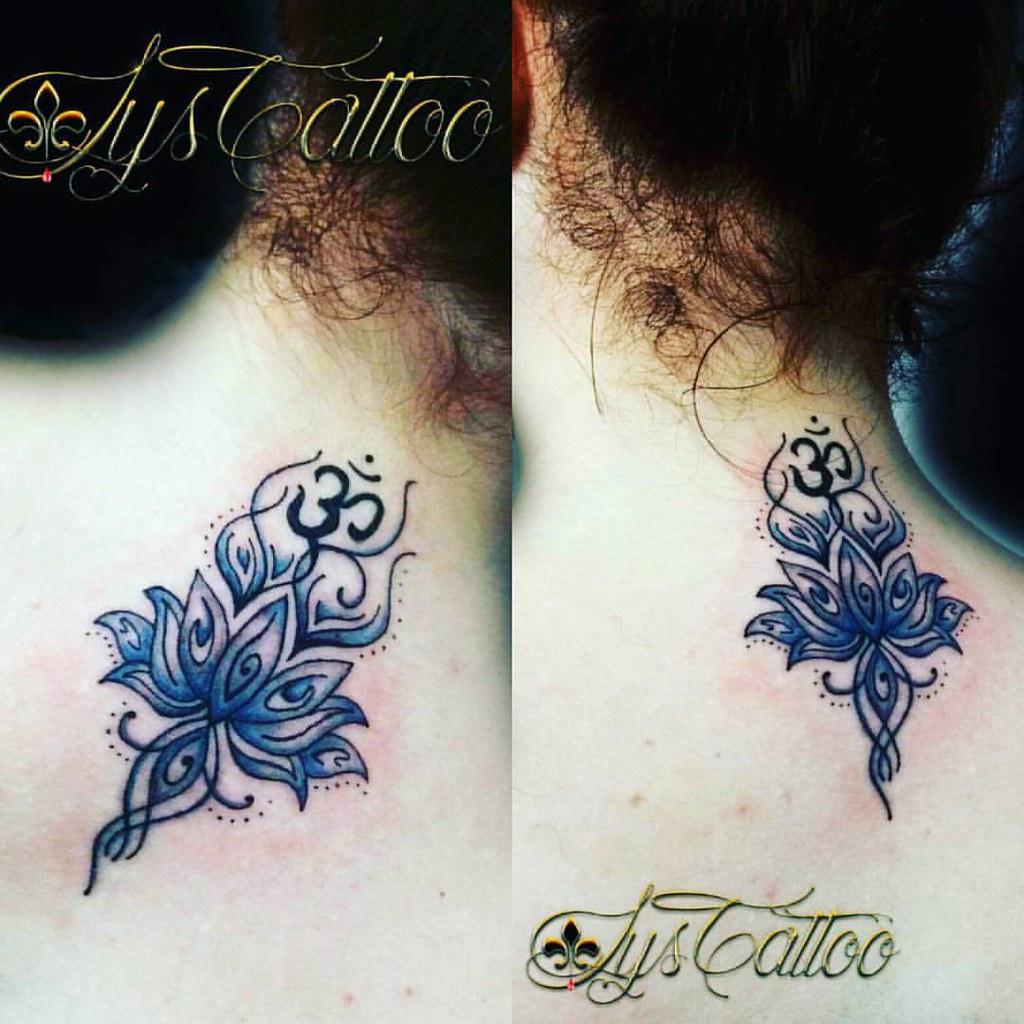 Tatouage Fleur De Lotus Et Ohm Tatouage Black Et Couleurs Flickr
