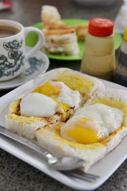 Half Boiled Eggs on Toast