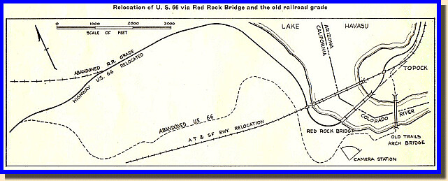 us route 66 colorado river map 1947 by clamshack