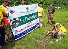 尼泊爾植樹活動(國際獅子會提供)