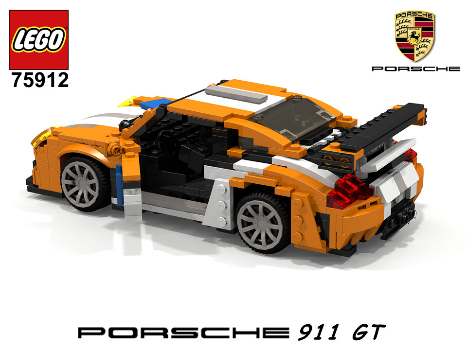 porsche 911 gt 991 lego nr 75912 2015 recreated. Black Bedroom Furniture Sets. Home Design Ideas