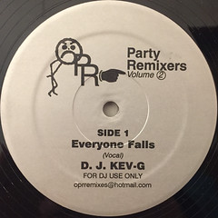 D.J. KEV-G:PARTY REMIXES VOLUME 2 EVERYONE FALLS(LABEL SIDE-A)