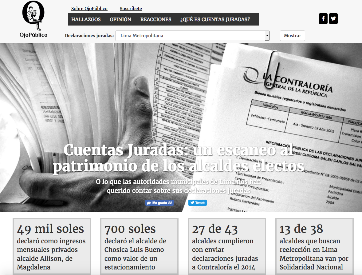 Peruvian Investigative Journalism Website Ojo P Blico Experiments  # Muebles Registrables