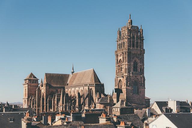 Sur les toits de Notre Dame de Rodez