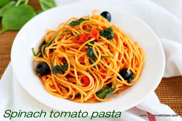 Spinach --Tomato pasta