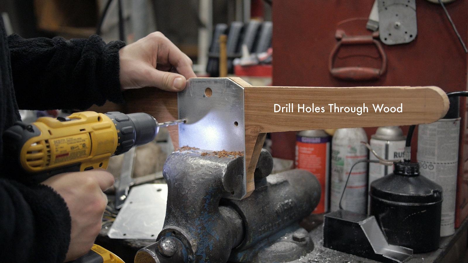 Drill Holes Through Wood