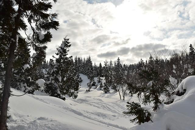 守門岳の雪景色