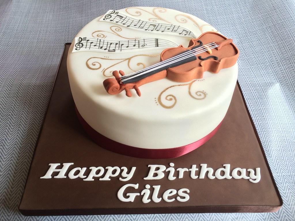 Violin Birthday Cake With Happy Birthday Tune Kat Buchan Flickr