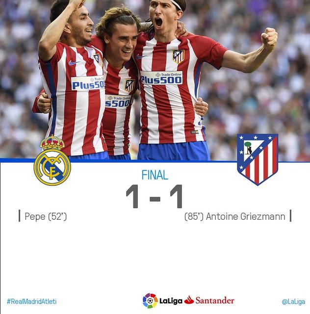 La Liga Santander (Jornada 31): Real Madrid 1 - Atlético de Madrid 1