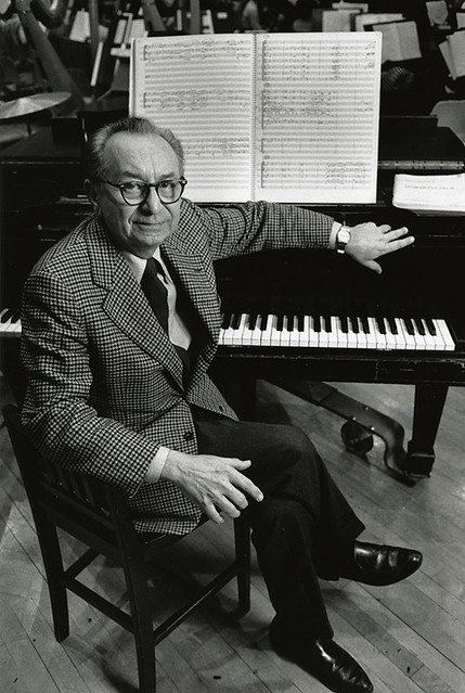 Vincent Persichetti in 1981 (Photo by Peter Schaaf; courtesy of the Juilliard Archives)