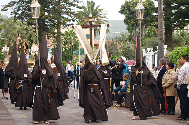 Hooded brotherhood, Semana Santa, La Laguna, Tenerife