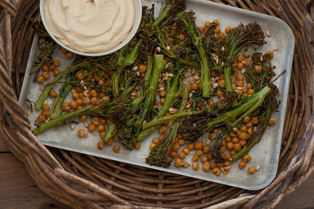 Crispy Broccolini & Chickpeas with Cashew 'Ricotta'-3