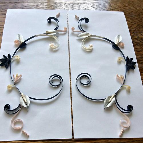 Quilled Mirror Scrolls