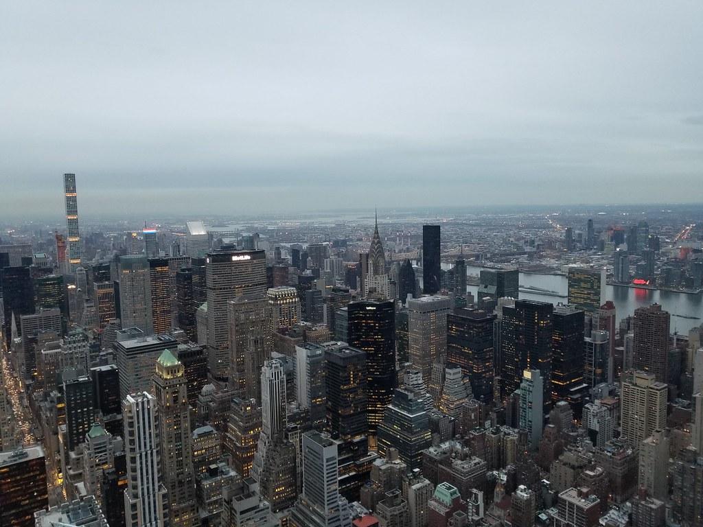 Pemandangan dari atas Empire State Building, New York, Amerika Serikat. Liputan6.com/Iskandar