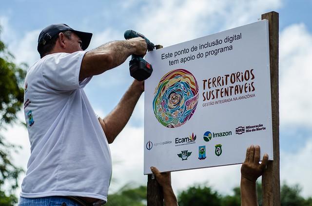 8 comunidades quilombolas de Oriximiná recebem serviço de internet da MRN, Instalacao_wifi_Boa_Vista