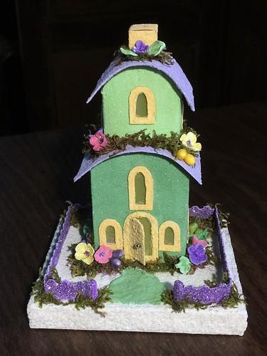 Springtime Putz house