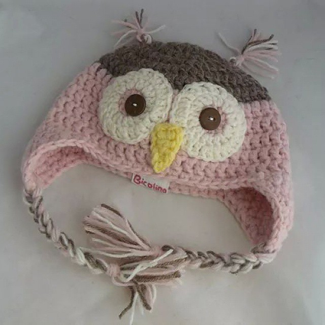 handmade bicolino beanie hat babyhat owl baby mysh flickr