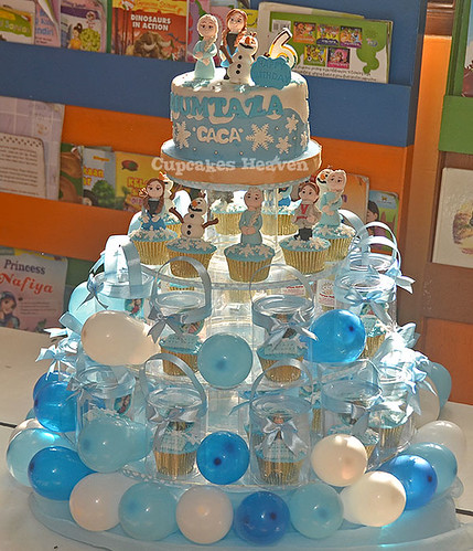 Frozen themed birthday cake and cupcakes  cake dan cupcake ...