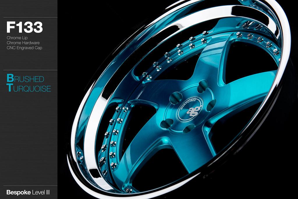 F133 Brushed Turquoise Avant Garde Wheels Flickr
