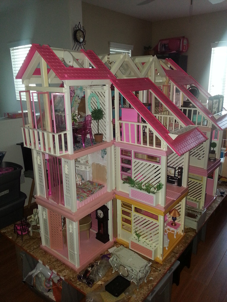 Working On A Vintage Barbie Dream House Redo Work In Prog