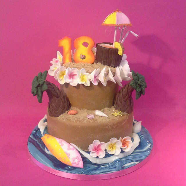 Hawaiian themed 18th Birthday Cake cake eton thefoxyca Flickr