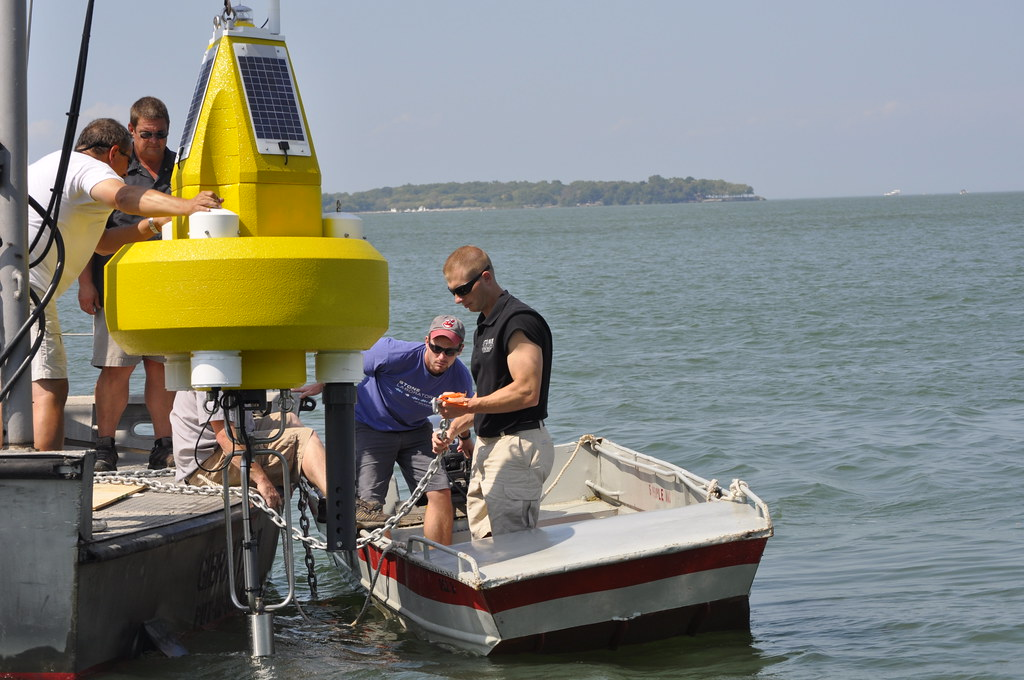 2014 Buoy deployed by Ohio Sea Grant