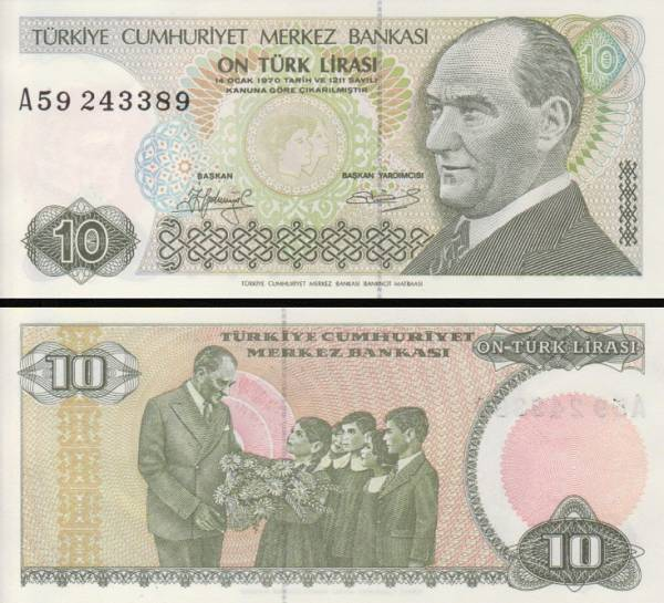 10 Lír Turecko 1979, P192