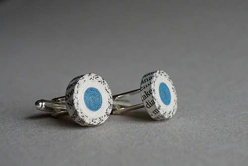 Recycled Paper Cufflinks by BLURECO