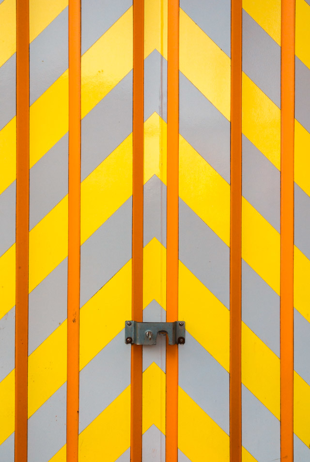 yellow chevron storage container