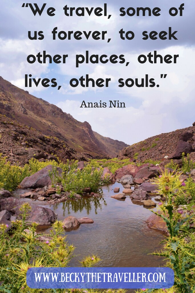 "Travel quotes - Inspirational travel quotes ""We travel, some of us forever, to seek other places, other lives, other souls."" Anais Nin"