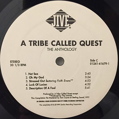 A TRIBE CALLED QUEST:THE ANTHOLOGY(LABEL SIDE-C)