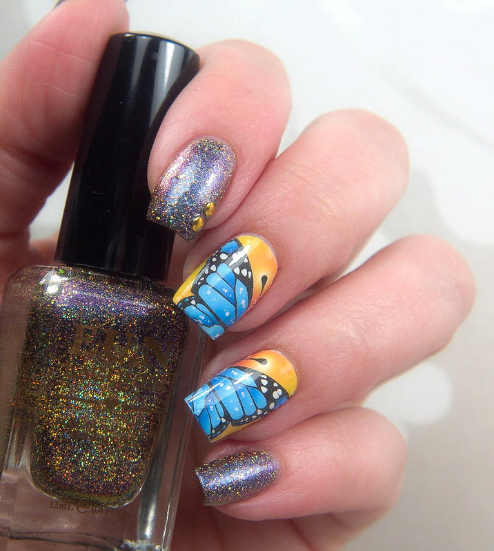 Whats Up Nails Flying Flowers decals