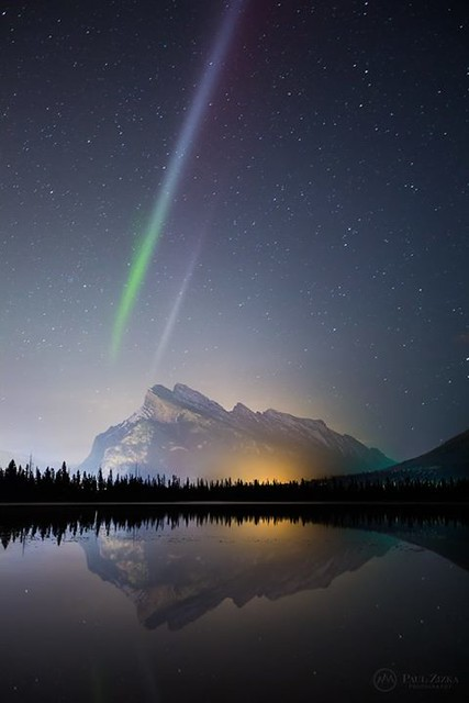"""So much talk about """"Steve"""" on social media right now, that unexplained celestial phenomenon we've been witnessing around here during aurora events. Hopefully all that buzz will fast-track the research surrounding the odd, static, purplish pillar. Exciting"""