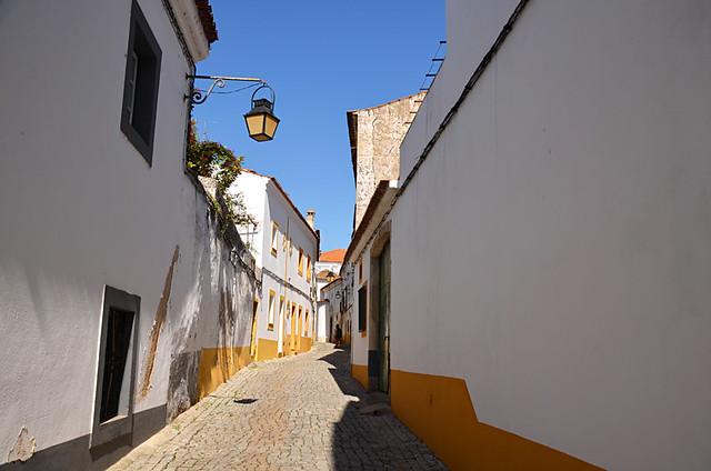Narrw streets, Evora, Portugal