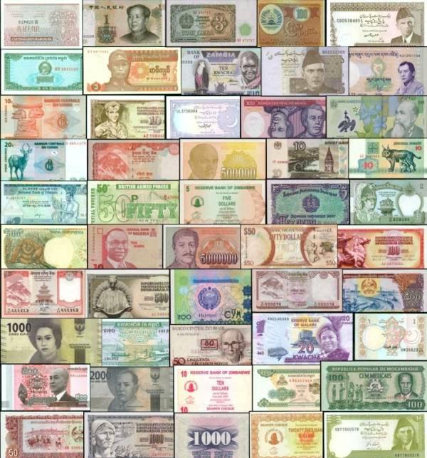 200 rôznych bankoviek svet