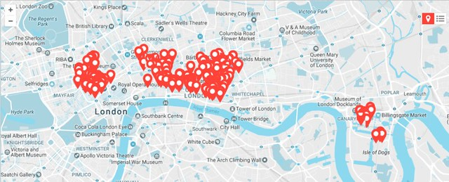 MealPal map