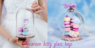 Macaroon kitty glass bags | by AnnaZu