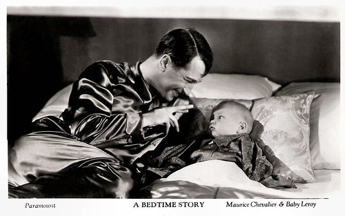 Maurice Chevalier and Baby Leroy in A Bedtime Story (1933)