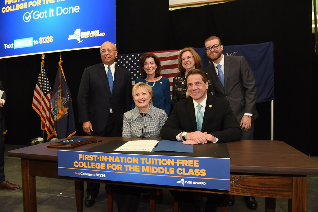 Governor Cuomo Joined by Secretary Hillary Clinton Signs Legislation Enacting Excelsior Scholarship Program for Tuition-Free College