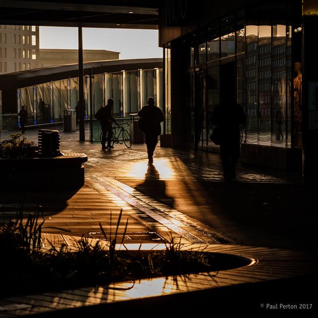 Commuter sunrise at Stratford