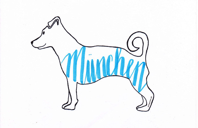 Kunst mit Logohund Mali