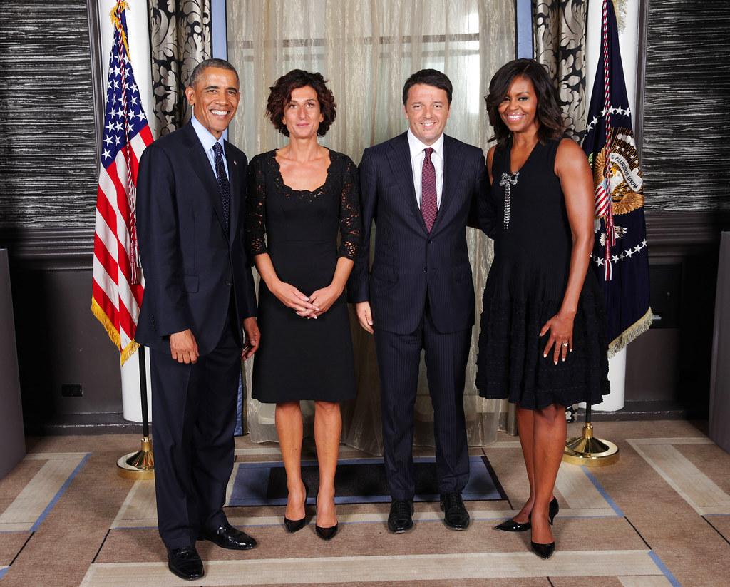 Risultati immagini per agnese matteo renzi obama