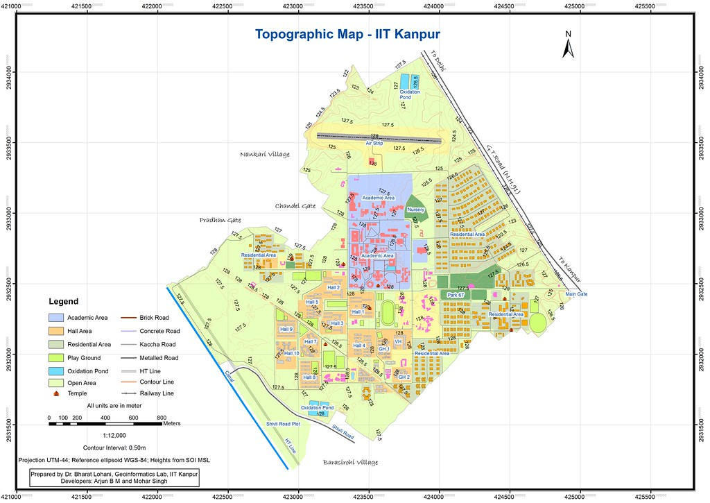 IIT Kanpur Map Geoinformatics Flickr