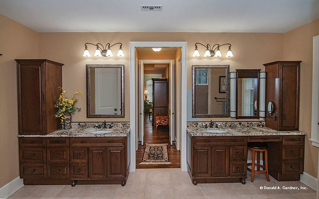 Master Bathroom Wood Cabinetry: Plan #1239-The Birchwood