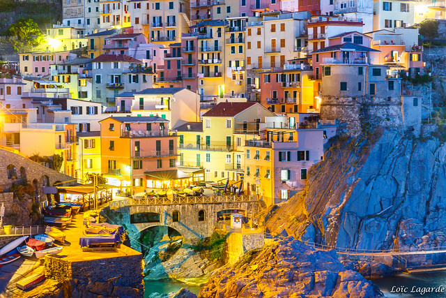 Manarola Cinque Terre by night
