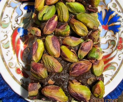 persian pistachio saffron halva quads