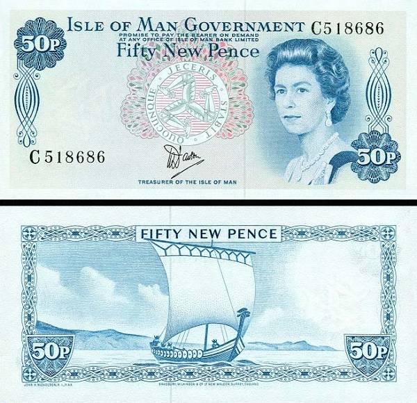 50 Pence Ostrov Man 1979, P33a