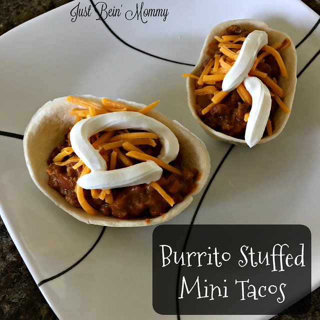Burrito Stuffed Mini Tacos with Old El Paso